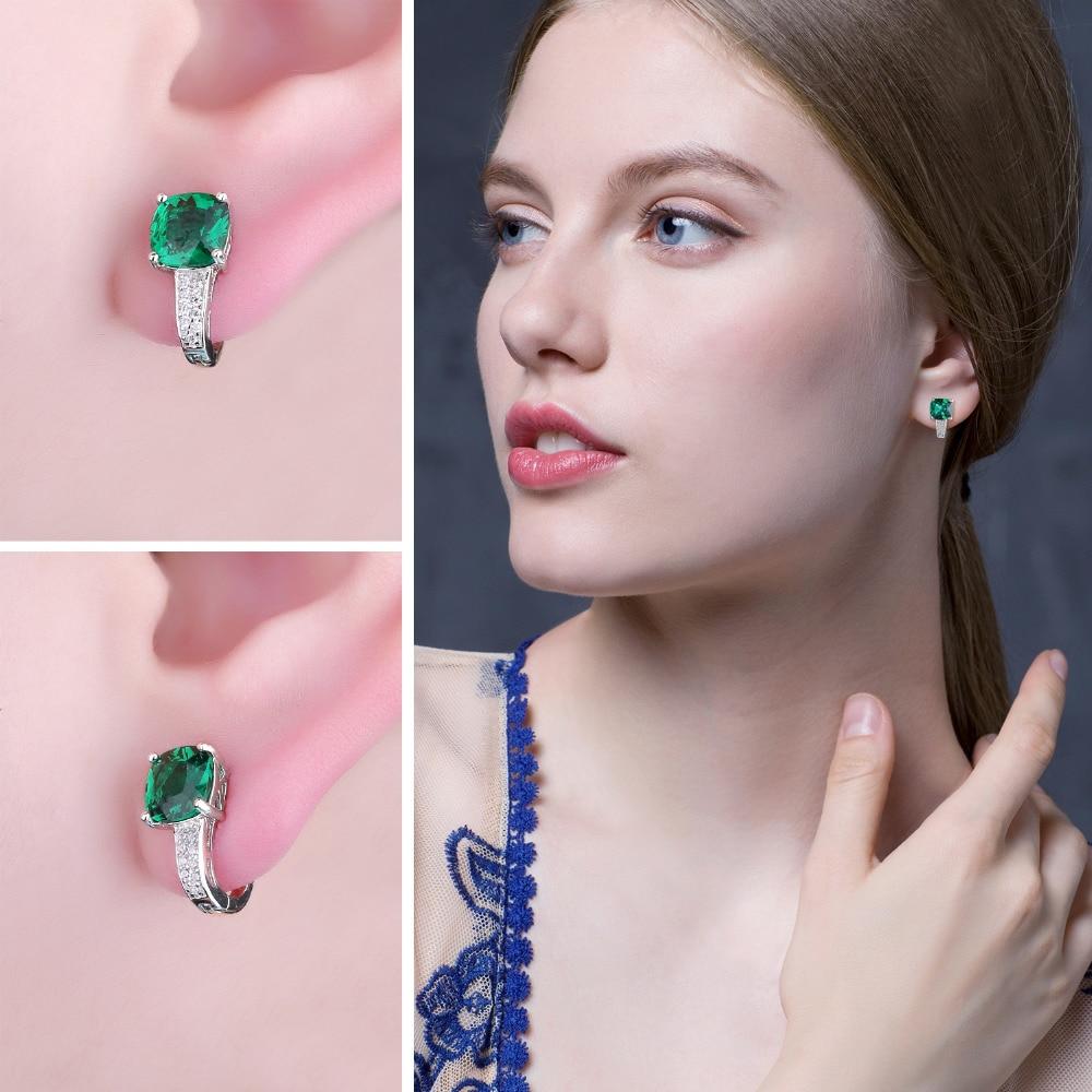 JewelryPalace Yastığı 3.1ct Yaşıl Zümrüd Klip Sırqalar 100% - Gözəl zərgərlik - Fotoqrafiya 3