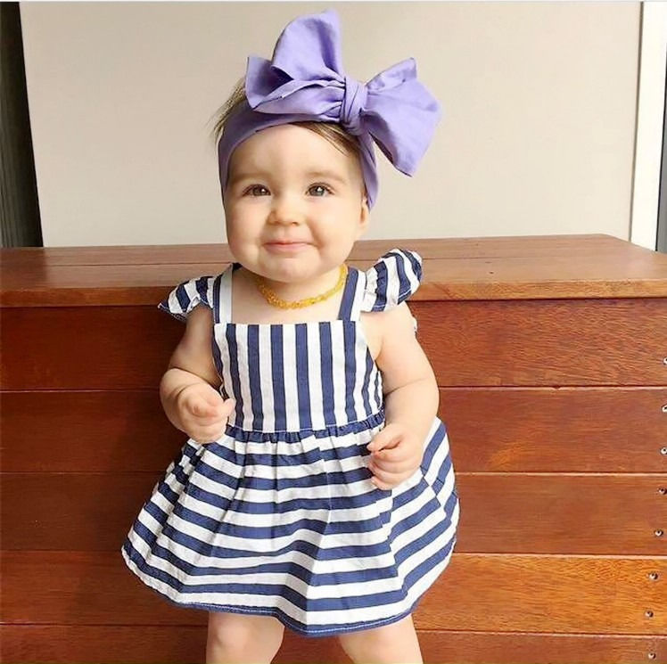 510fc9a30a075 HOT New Baby Girls Clothes Summer Sunsuit Outfit Stripe Backless Dress  Briefs Set UK-in Clothing Sets from Mother & Kids on Aliexpress.com |  Alibaba Group