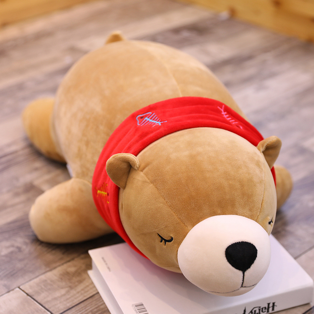 Valentines Day Gift Baby Toys Stuffed Animals New Polar Bear Plush Toy Doll Soft Plush Doll Cushion Cute Cuddle Bed Pillow in Movies TV from Toys Hobbies