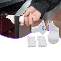 1set ABS Child Magnetic Safety Lock Baby Cabinet Lock Children Kids Drawer Locker Baby Security Cupboard