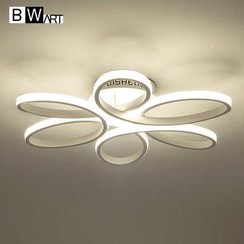 Bwart новый современный LED люстры для гостиной спальня столовая алюминиевый корпус домашние канделябра светильника
