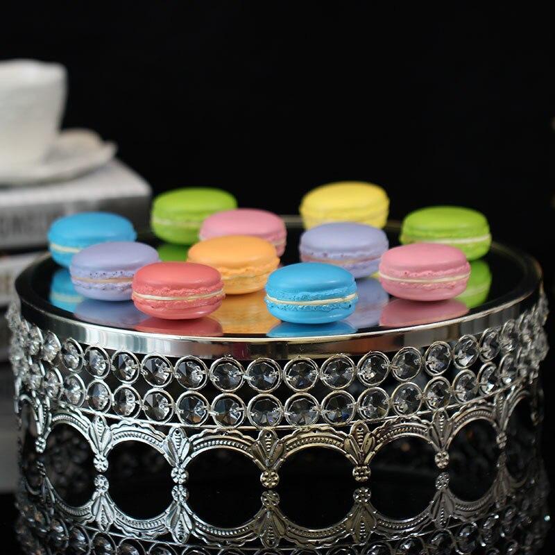 Cristal gâteau disque miroir nouilles verre mode le mariage Dessert plate-forme cuisson papier tasse gâteau Fruits plateau - 3