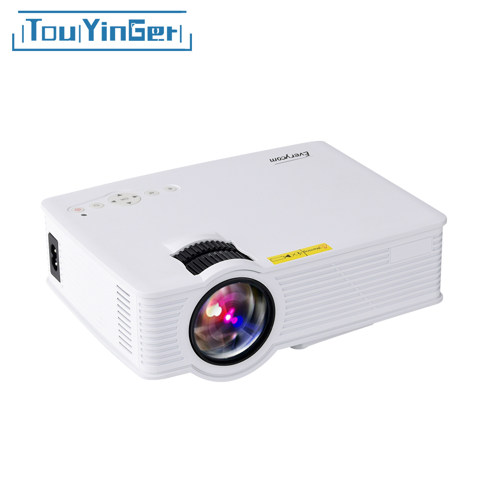 Touyinger uc40s bt140 mini portable led projector 1200 for Hd video projector