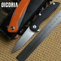 Dicoria F111 d2 بليد g10 مقبض للطي شفرة زعنفة كروي التكتيكية سكين التخييم outdoors الجمع السكاكين edc أداة