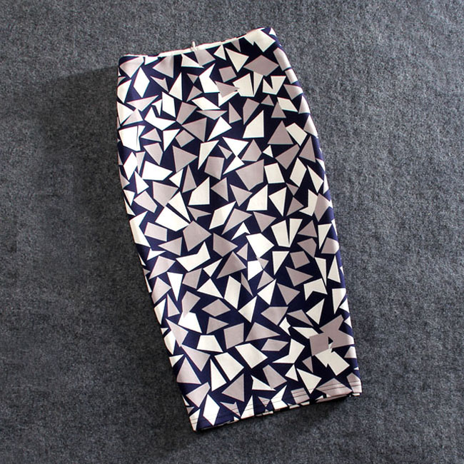 Women Skirts Print Flowers Fashion Pencil Skirt Casual Skirts Plus Size Faldas Mujer Jupe Femme
