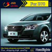 Free shipping ! Car styling LED HID Rio LED headlights Head Lamp case for Besturn B70 Bi Xenon Lens low beam