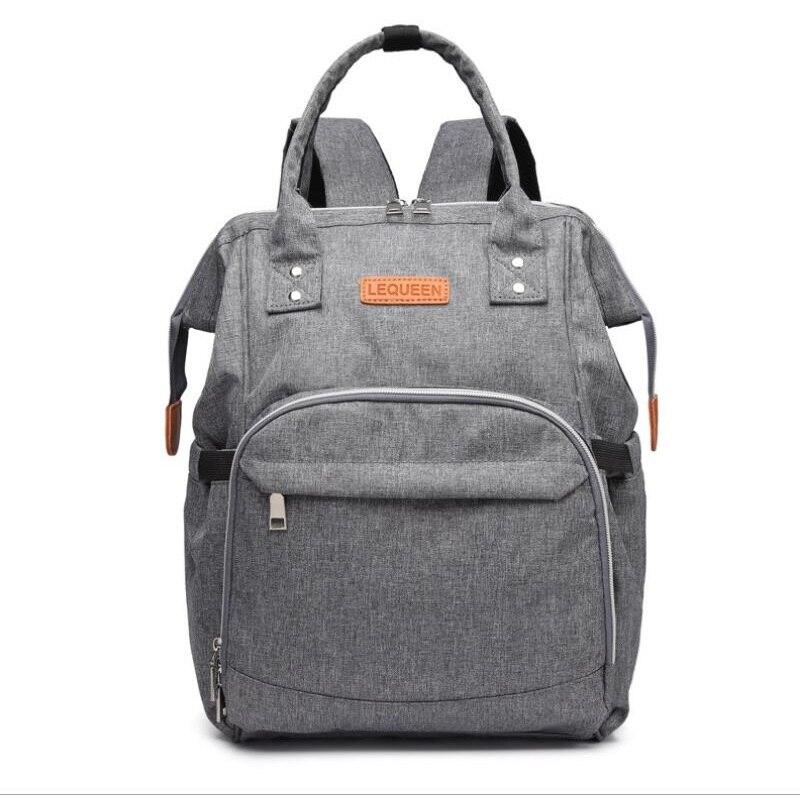 Sac à langer bébé sac à langer sac à dos de voyage grande capacité maternité mère soins infirmiers organisateur humide gris