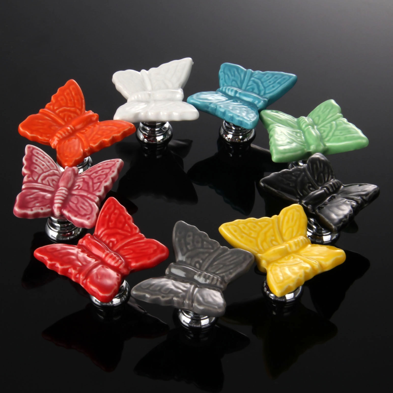 1Pc Furniture Handles Vintage Butterfly Cabinet Knobs and Handles ...