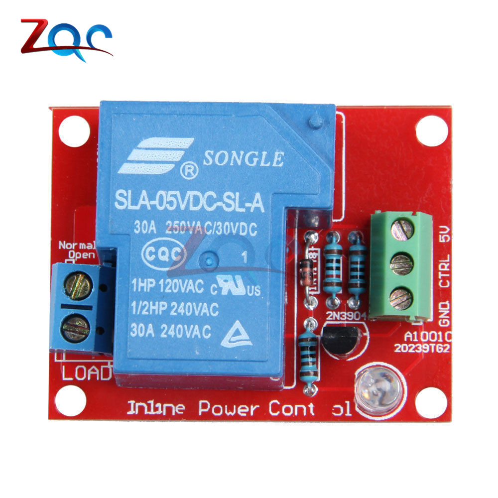 5V 30A High Power 1-Channel Relay Module H/L Level Triger for Arduino Mega 2560 AVR PIC DSP ARM SLA-05VDC-SL-A blue red sla 24vdc sl a 1 channel low level dc 24v coil power relay module
