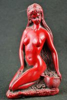 Collection decorative handmade Red Coral beauty nude statue