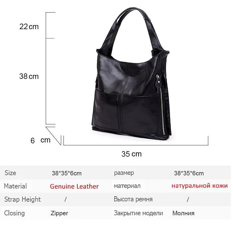 Роскошная брендовая Gabrielle сумка для женщин 2019, высокое качество, коровья кожа, сумка для покупок, модная Большая вместительная черная сумка ... - 6