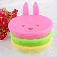 Wisely Cute Rabbit Plastic Holder Dish Soap Box Case Bathroom Washroom nov24 Professional High quality Drop Shipping