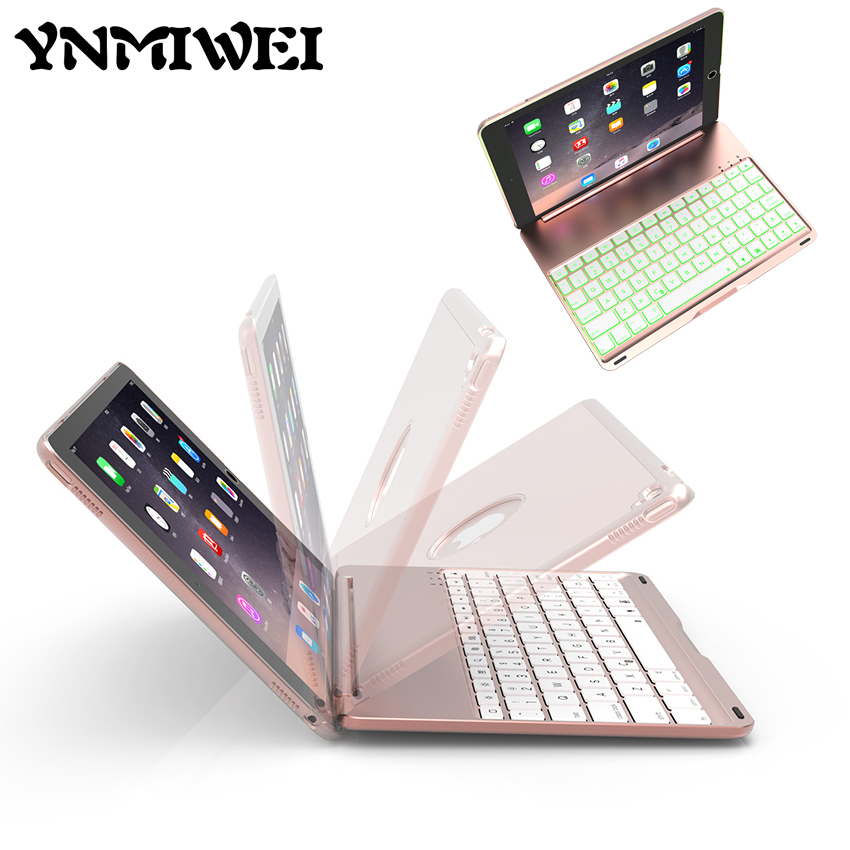 где купить Multifunctional Bluetooth Keyboard Slim Aluminum Tablet Wireless Keyboard With LED For Apple iPad air 2 pro 9.7 inch Case Cover дешево