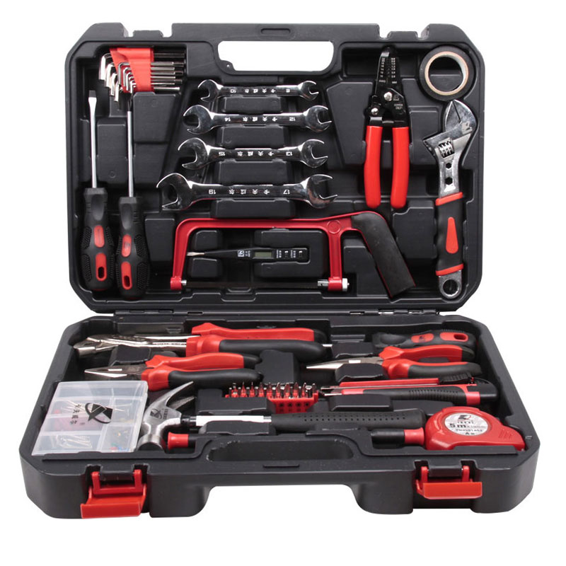 112 in 1 Household Hand Tool Kit with Toolbox Hammer Plier Screwdriver Knife Wrench Repair Hand Tools Set Woodworking Tools