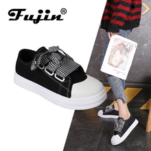 FUJIN Brand Women Casual Shoes Flats Sneakers 2019 Fashion Spring Summer Females Comfortable for