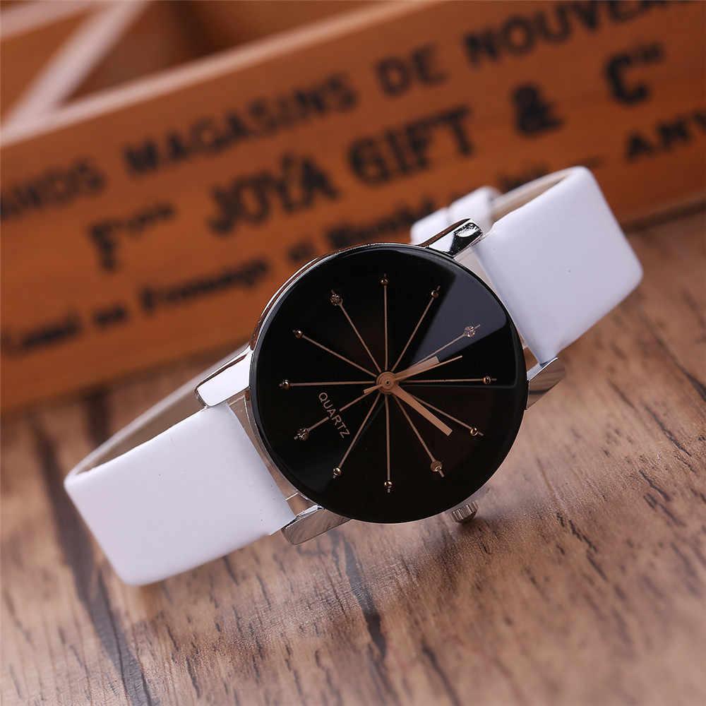 Relojes de lujo de marca superior para mujer, reloj de pulsera de cuero blanco para mujer, vestido de mezcla, reloj analógico de cuarzo, reloj ultradelgado femenino