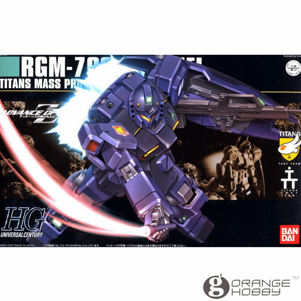 OHS Bandai HGUC 074 1/144 RGM-79Q GM Quel Mobile Suit Assembly Model Kits