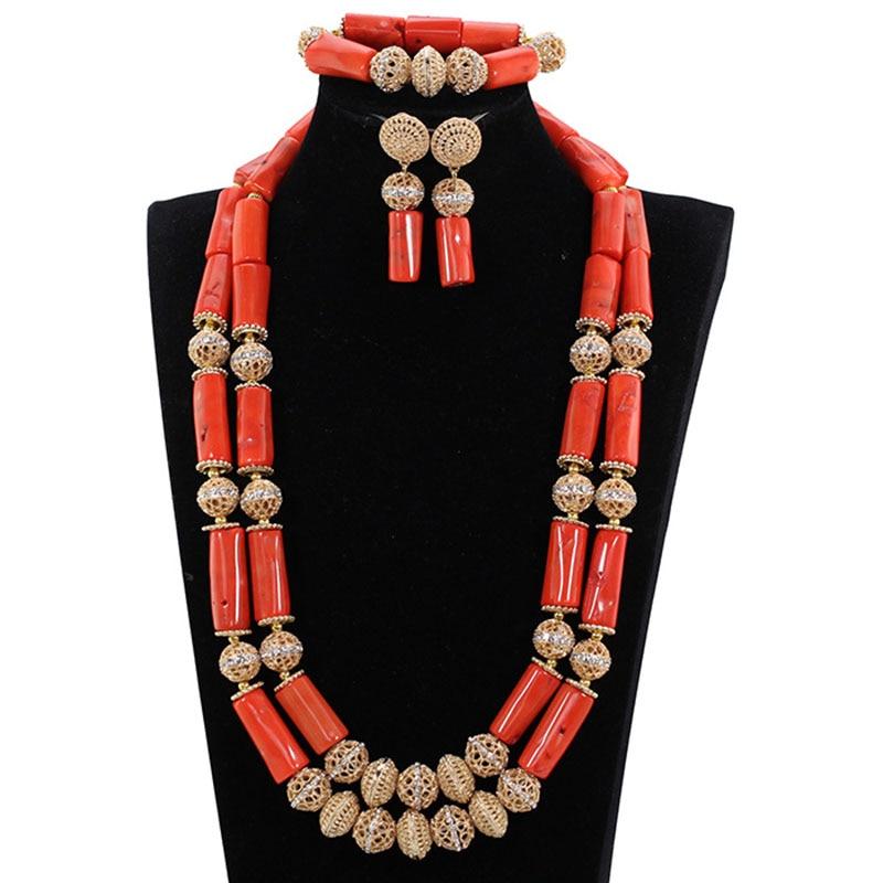 Nouveau Vintage rouge et or corail bijoux bijoux de mariage africains ensembles perles de corail livraison gratuite JB136Nouveau Vintage rouge et or corail bijoux bijoux de mariage africains ensembles perles de corail livraison gratuite JB136