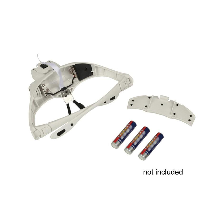 Ny 1,0 x 1,5 x 2,0 x 2,5 x 3,5 x 5 lins justerbar lup headhand led - Tatovering og kroppskunst - Bilde 4