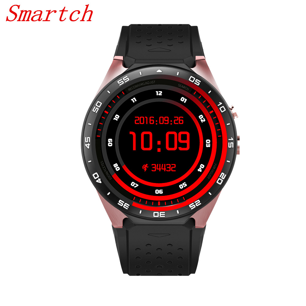 Smartch 2017 Hot Original KW88 3G Smart watch Android 5.1 OS, Quad Core support 2.0MP Bluetooth SIM Card WiFi GPS Heart Rate Mon