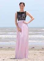 New Sleeveless Lace Tank A Line Silk Chiffon Dress Long Bridesmaid Dress Wedding Party Gown Custom