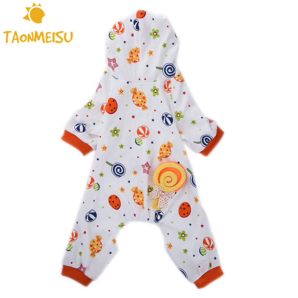 Pet Dog Cat Candy World Pattern Cotton Pajamas Leisure & Durable Pet - Pet Products