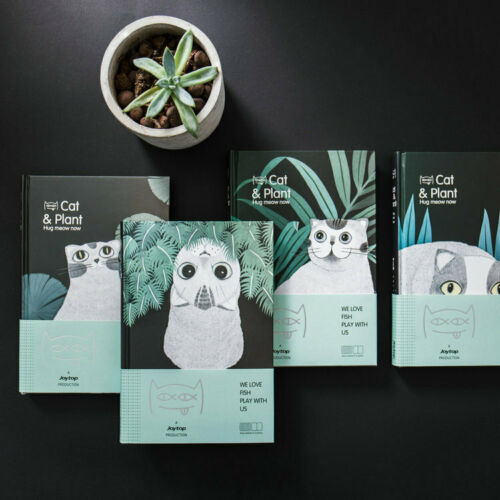 A6 Cat Creative Hardcover Diary Blank Simple Portable NotebookA6 Cat Creative Hardcover Diary Blank Simple Portable Notebook