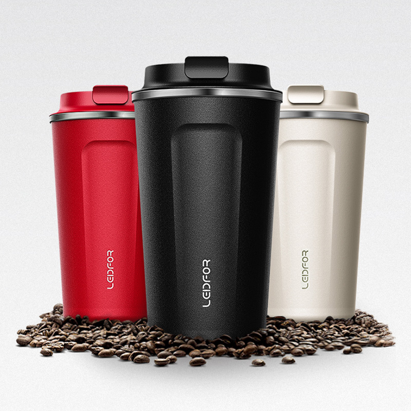 2018 Coffee Mugs with Lid Milk Stainless Steel Vacuum Flask Insulated Thermal Water Bottle Cup Beer Thermocup Coffee Thermo Mug