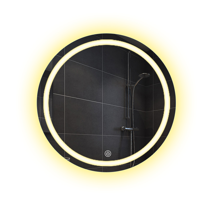 Bathroom wall LED light mirror round wall hanging washroom toilet makeup mirror touch switch White warm light mx12151606 4
