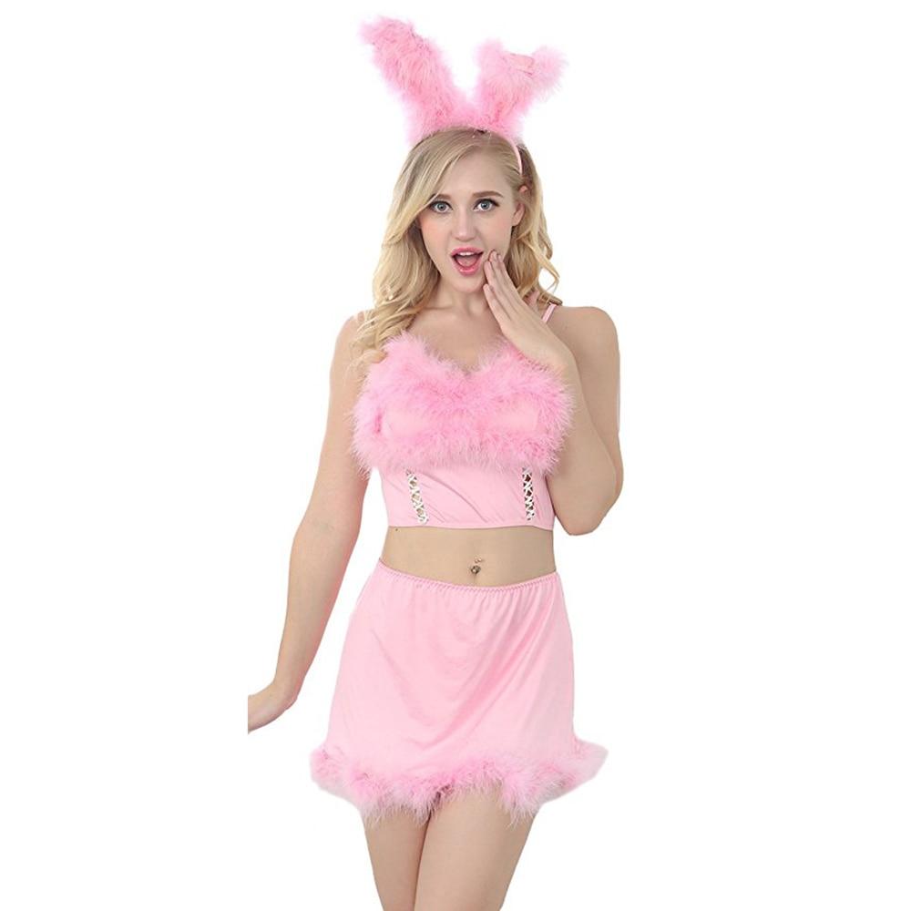 Sexy Bunny Costume Adult Women Deluxe Furry Rabbit Girl -2652