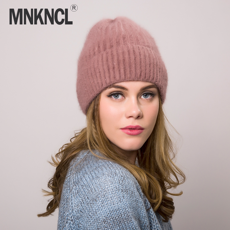 MNKNCL 2018 New Knitted Wool Beanies Autumn winter hat for women fashion female ski skullies beanies thick warm hat for girls