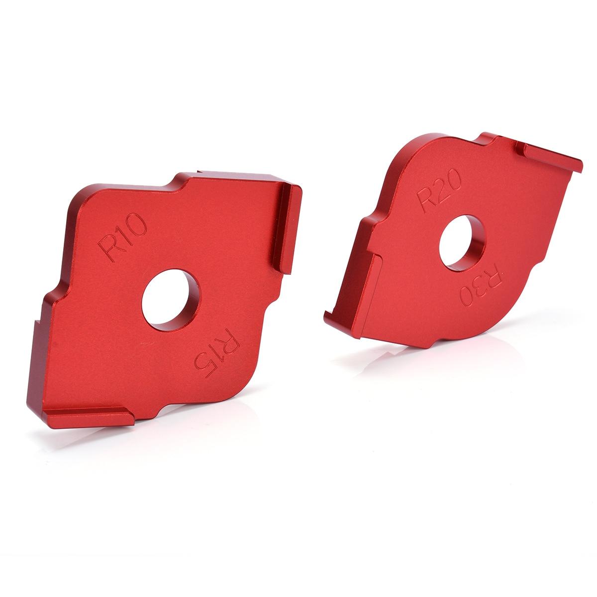100% Wahr 2 Stücke Holz Panel Radius Tisch Bits Schnell-jig Vorlage Router Jig Ecke Vorlagen Mit Box Für Holzbearbeitung Werkzeug