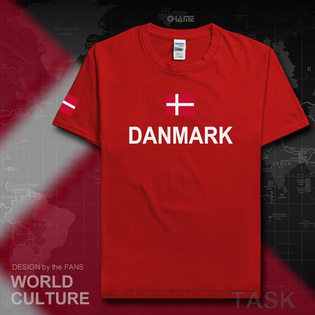 94381775f Online Shop Denmark Danish men t shirts fashion 2017 jerseys nation tshirt  100% cotton t-shirt meeting clothing tees country Danmark DK DNK