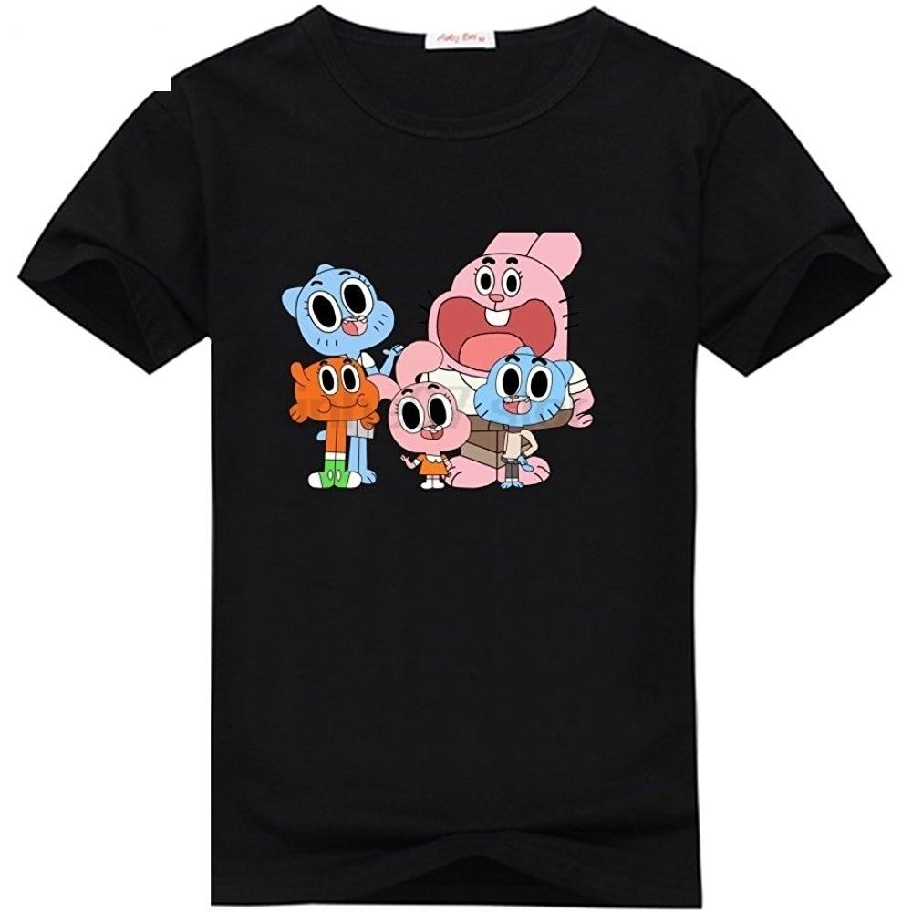 Abbigliamento E Accessori Bambini 2 - 16 Anni Sunny T Shirt Gumball Gruppo Bambino Blue Royal Tshirt Maglia Maglietta Originale