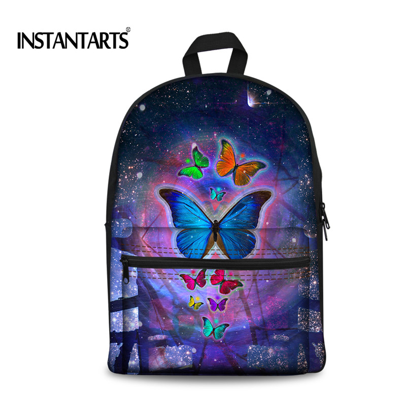 3D Animal Butterfly Printing Canvas Backpack School Backpacks For Teenager Girls Travel Laptop Rucksack