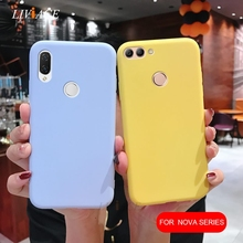 matte silicone phone case on for huawei nova 5 5i 4 3 3i 3e 2i 2s 2 li