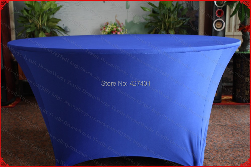 Royal Blue Lycra/Spandex Table <font><b>Cover</b></font>/Tablecloth/Table Runner/<font><b>Chair</b></font> <font><b>Cover</b></font> for Wedding/Hotel/Banquet/Party/Home decor&textile