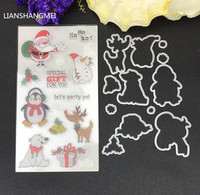 Santa Claus Christmas Metal Cutting Dies And Stamp Stencils For DIY Scrapbooking