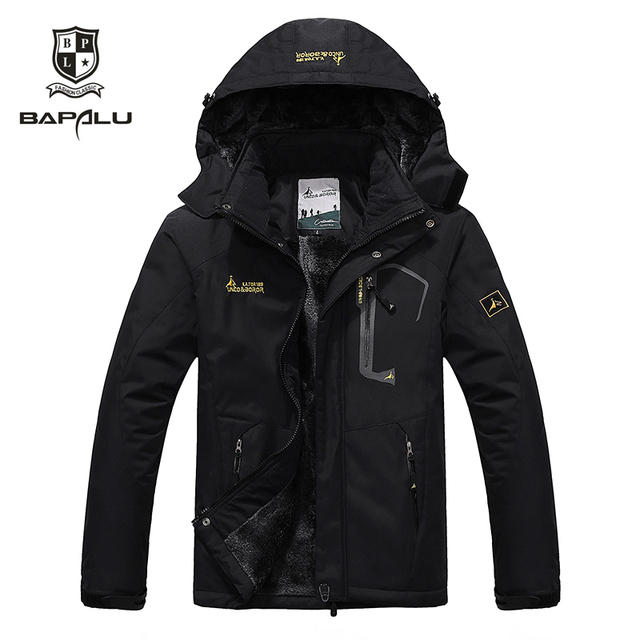 Autumn And Winter New jacket male / female waterproof windproof jacket Plus thick velvet casual warm coat jacket size 4XL5XL6XL