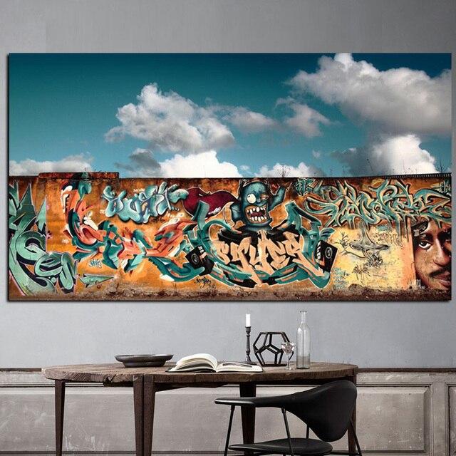 Graffiti Fond Blanc Nuages Estampe sur Toile Peinture Moderne Pop Art Mur Photo pour Salon Accueil.jpg 640x640 Résultat Supérieur 1 Inspirant Canape Jaune Und Galerie Street Art Pour Salon De Jardin Image 2017 Sjd8
