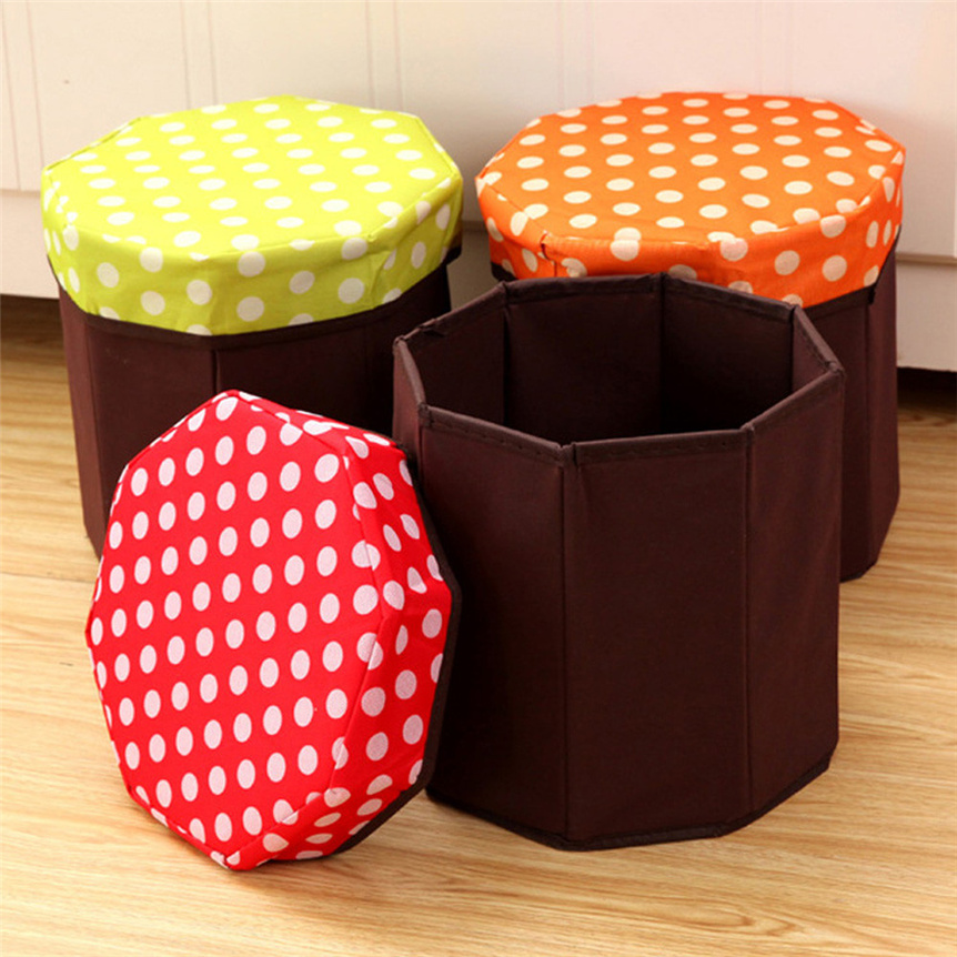 Lovely Pet New 1Pc Foldable Storage Foot Stool Multifunctional Storage Box Home Organization Drop Shipping 70726 : round foot stools - islam-shia.org