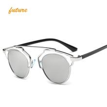 Future big Brand Designer Square Flat Top Sun Glasses Mirror Women Sunglasses Men Eyewear Hip Hop rose gold Frame Lady Male Rock