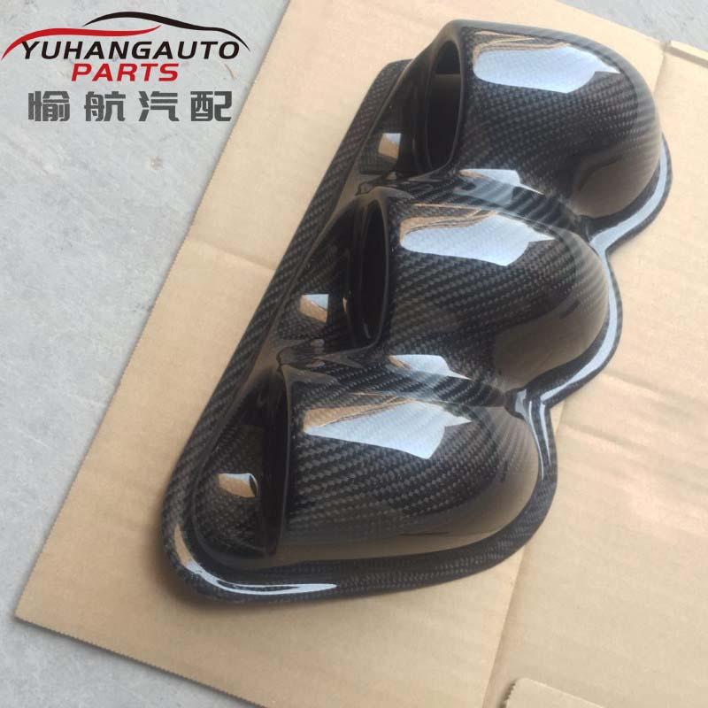 For Mitsubishi Lancer EVO 7 8 9 EVOLUTION Carbon Wheel Gauge Pod Dual Cover 52MM