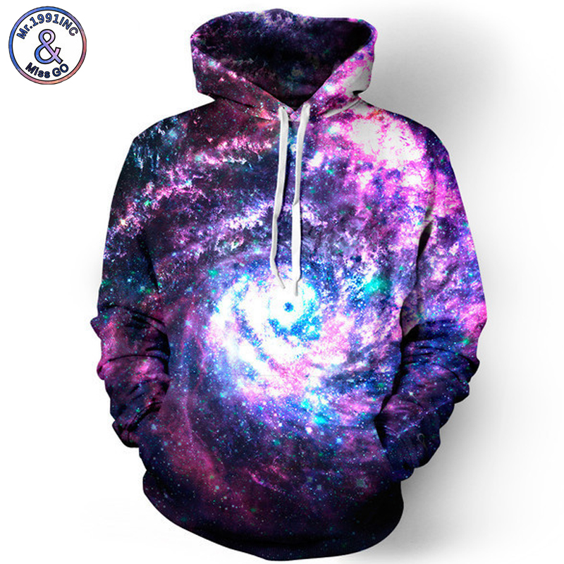 Mr.1991INC Space Star Sky Digital Print 3D Hoodies Sweatshirts Men Hooded Sweatshirt Eur ...