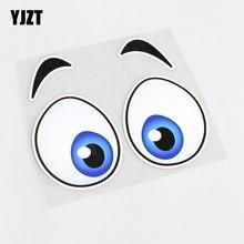Yjzt 14 cm * 12.7 cm dos desenhos animados de alta qualidade diversão olho adesivo de carro decoração decalque pvc 13-0446