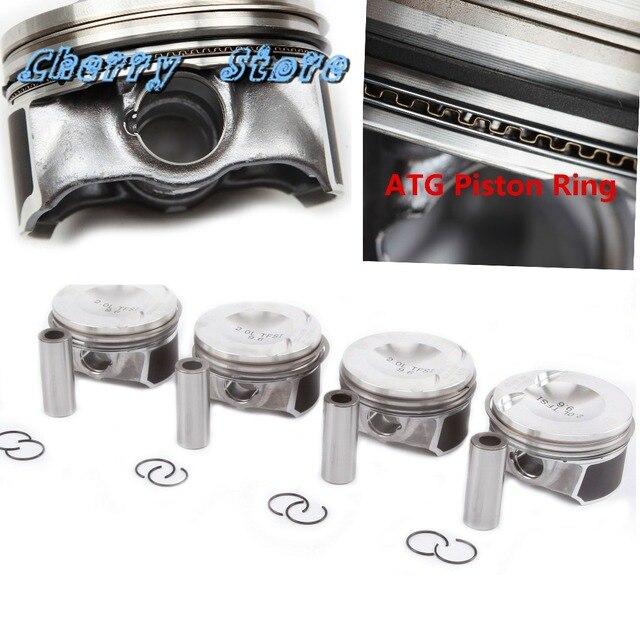 NEW 06H 107 065 AM Engine Piston & Ring Auto Assembly Kit Pin 21mm For VW Passat Tiguan Golf Audi A3 A5 Q5 TT 2.0TFSI 06J198151B 1
