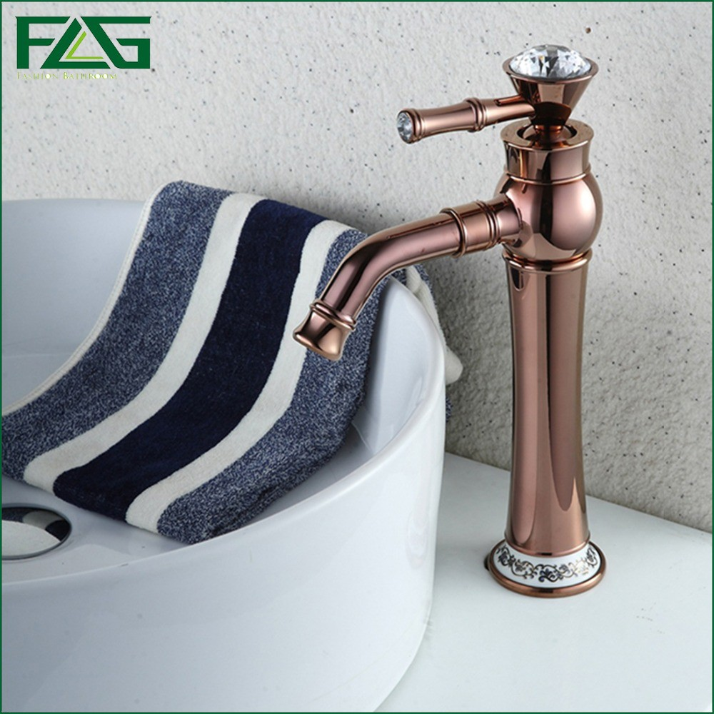 ФОТО FLG Buckingham Palace Continental Luxury Bath Mat Rose Golden Plate Crystal Faucet Handles 360 Degree Swivel Toilet Faucet M143