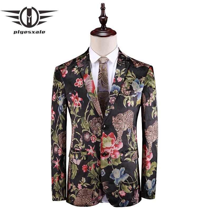 FleißIg Plyesxale Herren Blazer Casual Marke Kleidung 4-5xl Luxus Floral Blazer Jacke Blume Tiger Muster Blazer Für Männer 2019 Q113 Gutes Renommee Auf Der Ganzen Welt