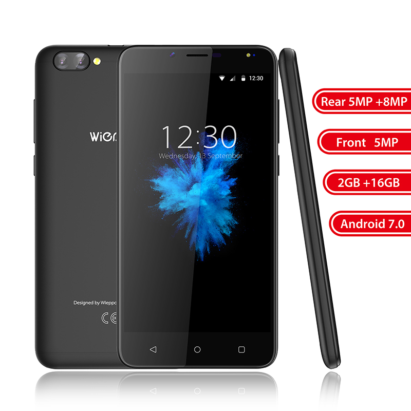 S6 5.5 inch 4G Mobile Phone Dual Rear Camera Android 7.0 MT6737 Quad Core 2GB RAM 16GB ROM Smartphone Fingerprint Cellphone