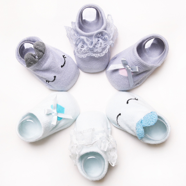 3 Pairs/lot Bunny Cotton Baby Socks